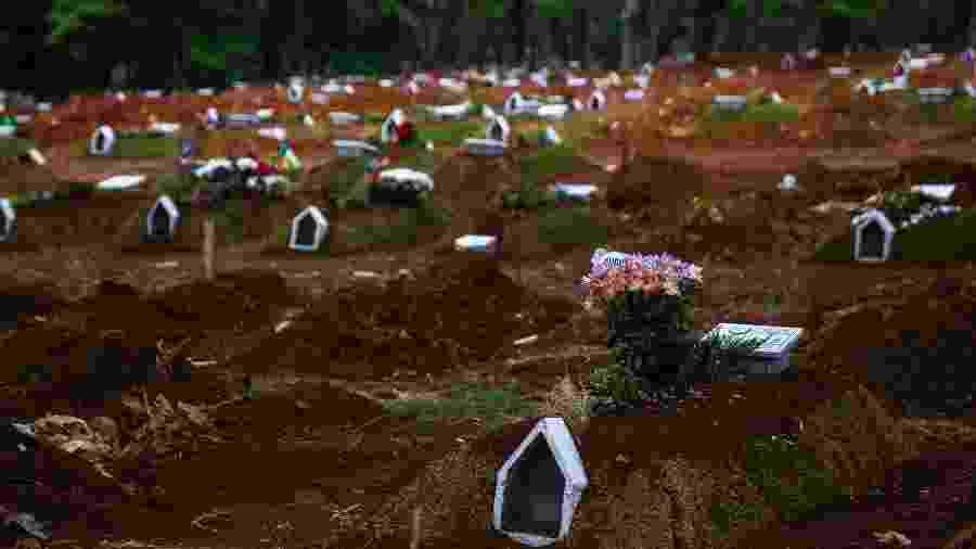 Sepulturas no cemitério Vila Formosa, na zona leste de S?o Paulo, em setembro deste ano - Mathilde Missioneiro/Folhapress