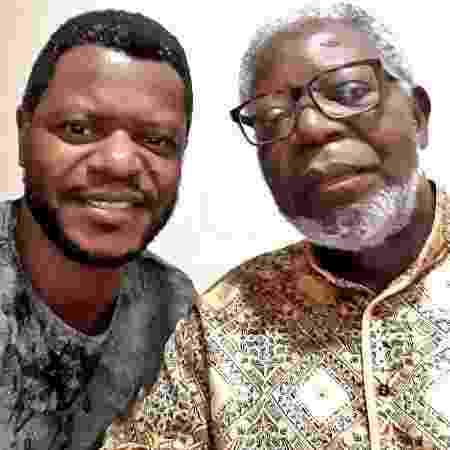 O antropólogo Kabengele Munanga ao lado filho e ator Bukassa Kabengele - Arquivo pessoal