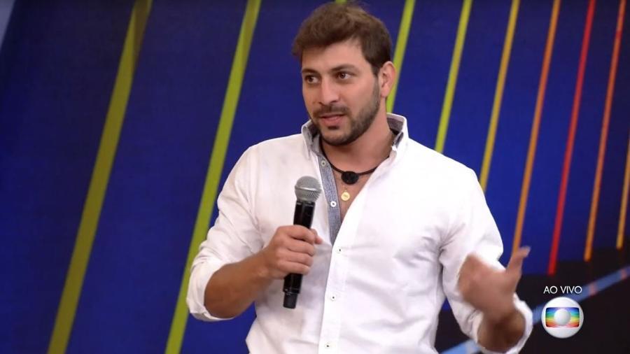 BBB 21: Caio conversa com Tiago Leifert  - Reprodução/ Globoplay