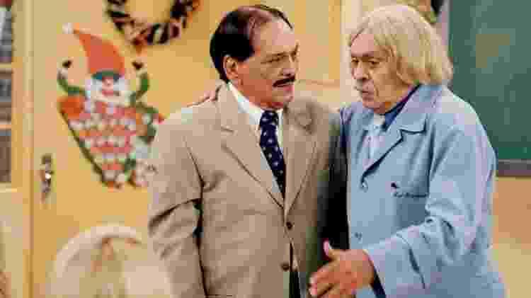 Lúcio Mauro e Chico Anysio na Escolinha do Professor Raimundo - Reprodução/TV Globo - Reprodução/TV Globo