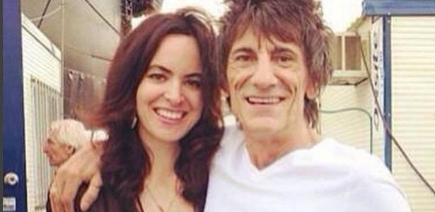 Ronnie Wood ao lado da mulher Sally Humphreys - Reprodução/Instagram