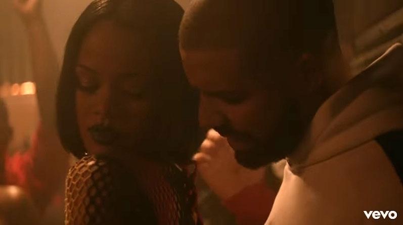 Rihanna e Drake em cena do clipe