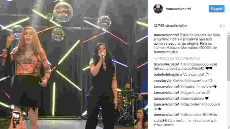 """Tom Cavalcante e Eliana cantam Maiara e Maraisa no """"Multi Tom"""" - Reprodução/Instagram/tomcavalcante1"""