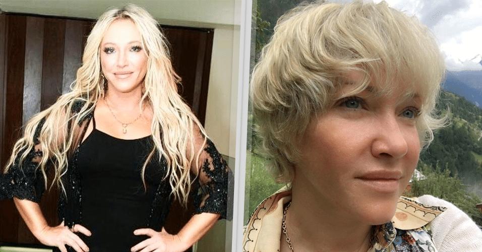 """Camaleoa, a cantora radicalizou e resolveu adotar um novo corte de cabelo. Em seu perfil no Instagram, Deborah mostrou o novo look, estilo Joãozinho. """"Amei o resultado!?, escreveu ela na rede social."""