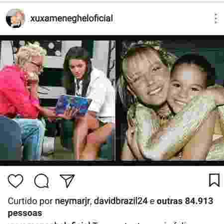 Xuxa parabeniza Marquezine e Neymar curte postagem no Instagram - Reprodução/Instagram