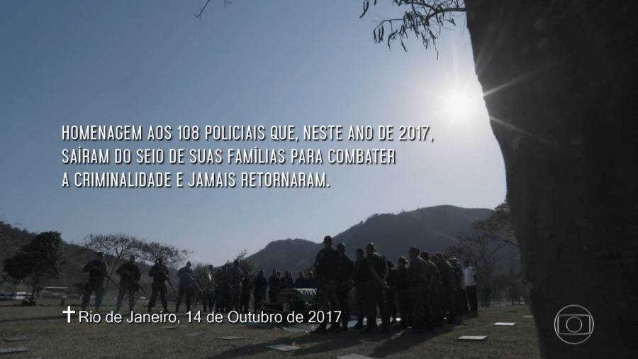 Globo presta homenagem a 108 policiais mortos em 2017 no Rio de Janeiro - Reprodução/TV Globo