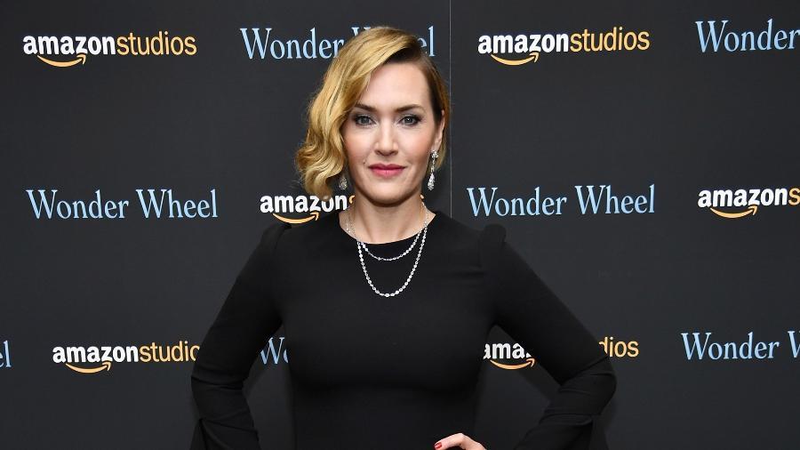 A atriz Kate Winslet na premiação Globo de Ouro de 2018 - Dimitrios Kambouris/AFP