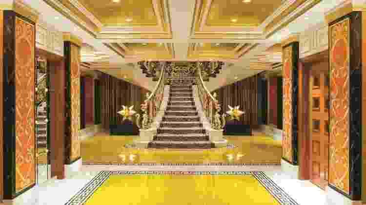 As Suítes Reais do Burj Al Arab têm dois andares conectados por luxuosas escadas  - Divulgação/Burj Al Arab Jumeirah - Divulgação/Burj Al Arab Jumeirah