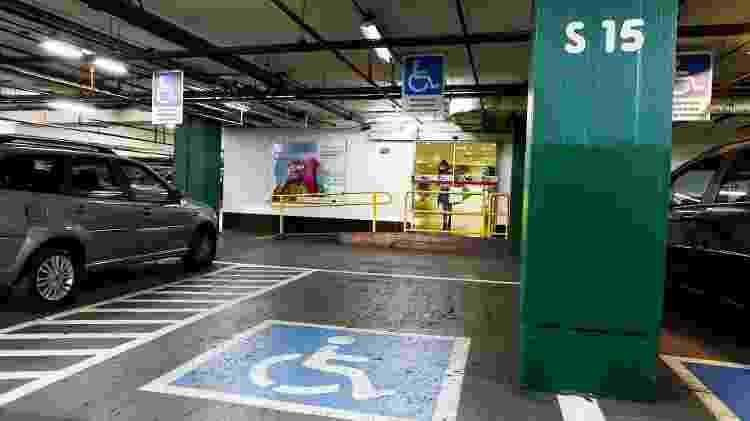 Vaga estacionamento PCD - Rubens Cavallari/Folhapress - Rubens Cavallari/Folhapress