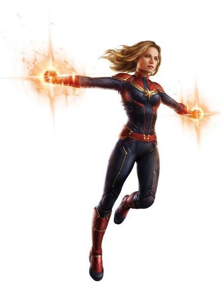 """Arte de """"Vingadores 4"""" - Capitã Marvel - Reprodução"""