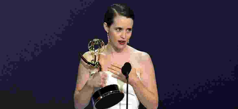 """Claire Foy, de """"The Crown"""", chegou a se emocionar ao agradecer por Emmy - Kevin Winter/Getty Images"""