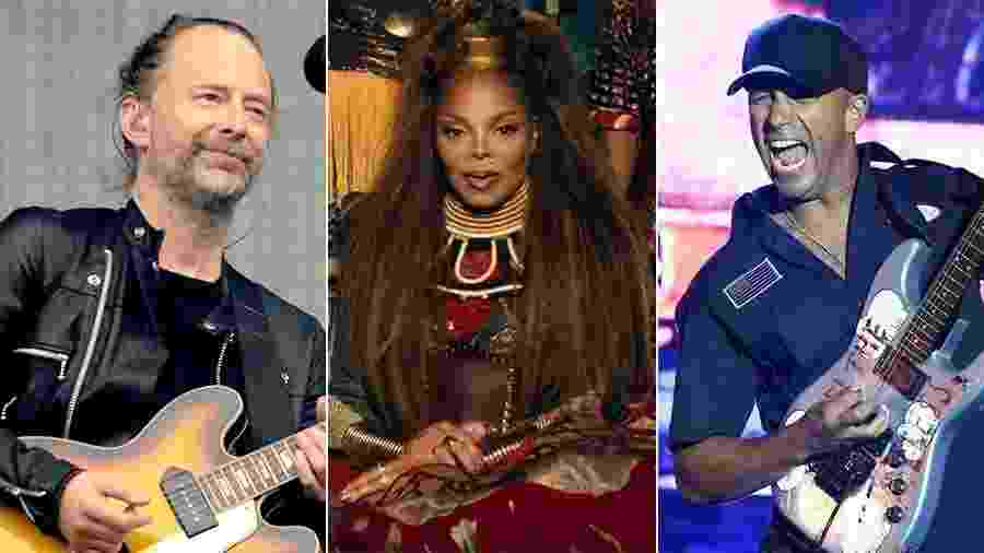 Radiohead, Janet Jackson e Tom Morello, do Rage Against the Machine - Arte UOL