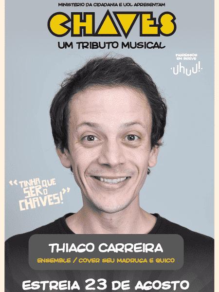 """Thiago Carreira fará coro e será substituto de Quico e Seu Madruga: em """"Chaves - Um Tributo Musical"""" - Divulgação - Divulgação"""