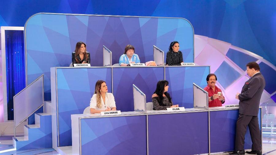Silvio Santos interage com participantes do Jogo dos Pontinhos - Lourival Ribeiro/SBT