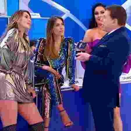 Lívia confronta Silvio no Jogo dos Pontinhos - Reprodução/SBT