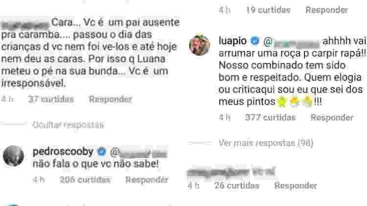 Pedro Scooby responde crítica de seguidor; Luana Piovani defendeu o ex-marido - Reprodução/Instagram