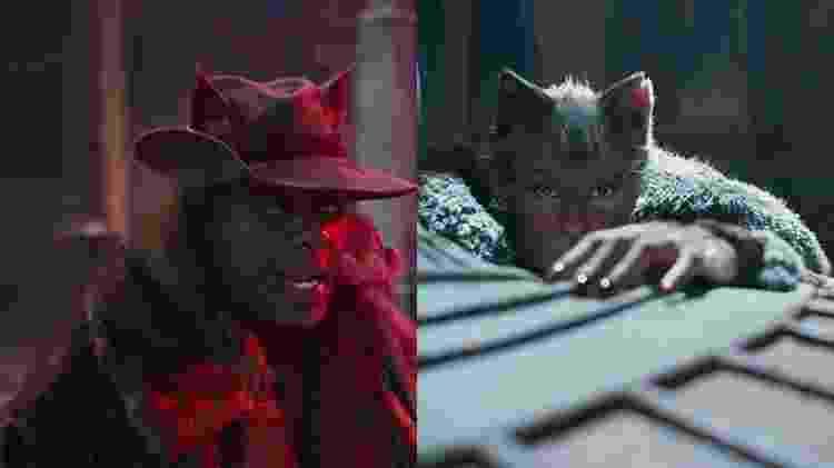 O visual dos personagens de Idris Elba e Jennifer Hudson em Cats - Divulgação