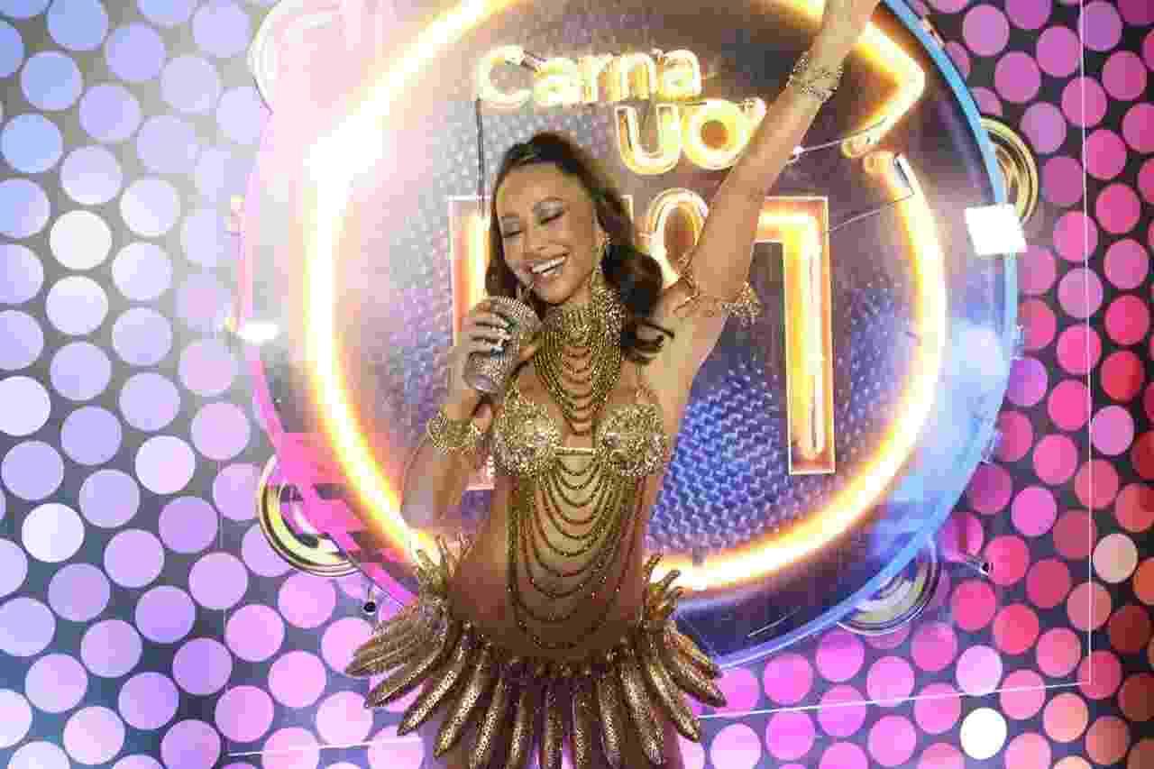 Sabrina Sato no Camarote CarnaUOL N1 na Marquês de Sapucaí - Gianne Carvalho/UOL