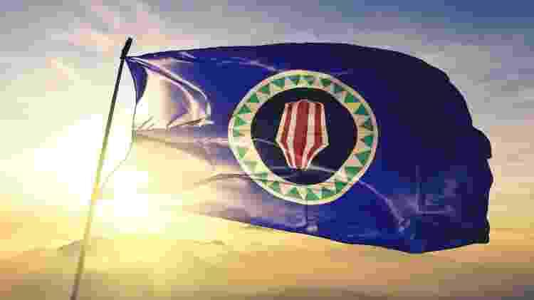 Bandeira de Bougainville, província de Papua Nova Guiné  - Getty Images