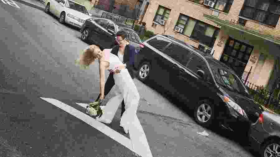Reily e Amanda se casaram na rua, em Nova York - Reprodução/Instagram