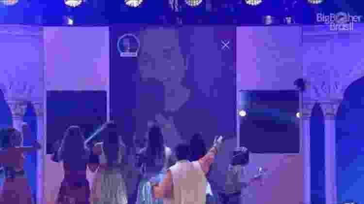 BBB 20: Luan Santana no telão - Reprodução/Globoplay - Reprodução/Globoplay