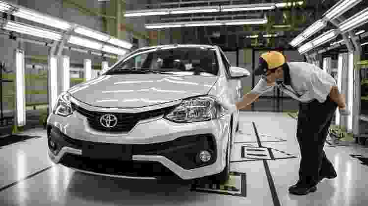 Toyota Etios - 500 mil unidades em Sorocaba (SP) - Divulgação - Divulgação