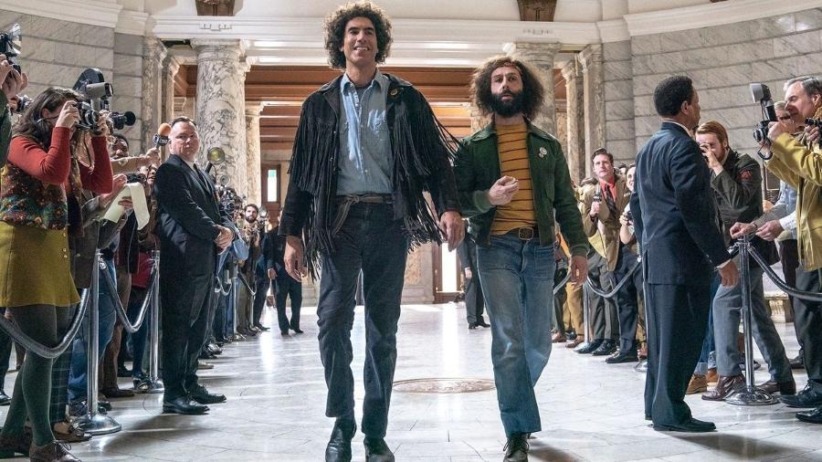 """Cena de """"Os 7 de Chicago"""", um dos filmes """"baseados em histórias reais"""" do Oscar 2021 - Divulgação"""