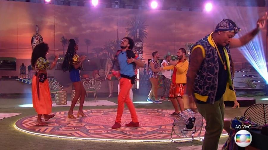 """BBB 21: Festa """"Herança Africana"""" agita a casa - Reprodução/ Globoplay"""