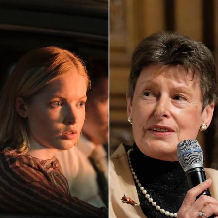 """Angela Kane, diplomata da ONU, é interpretada pela atriz Ellie Bamber na série """"O Paraíso e A Serpente"""", da Netflix - Divulgação (Netflix) e arquivo pessoal"""