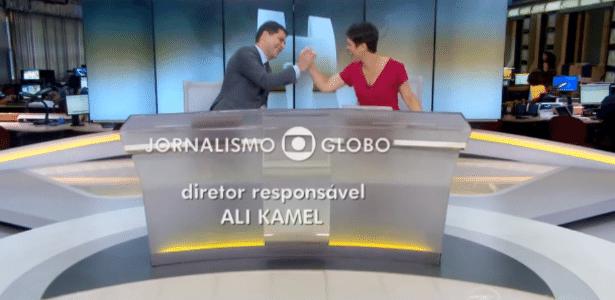 Evaristo comemora 40 anos e recebe mensagem simpática de Sandra no ar - Reprodução/TV Globo