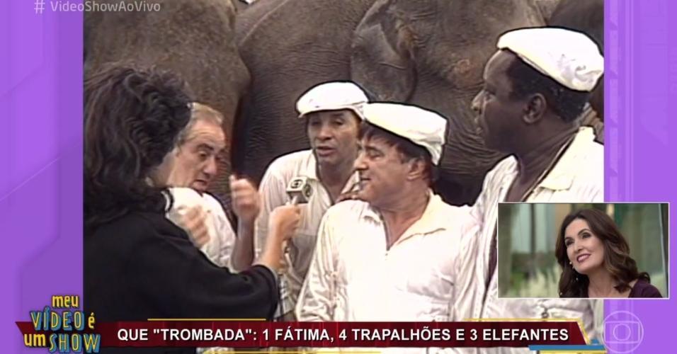 """Fátima Bernardes participa do """"Vídeo Show"""" e revê matérias antigas da carreira"""