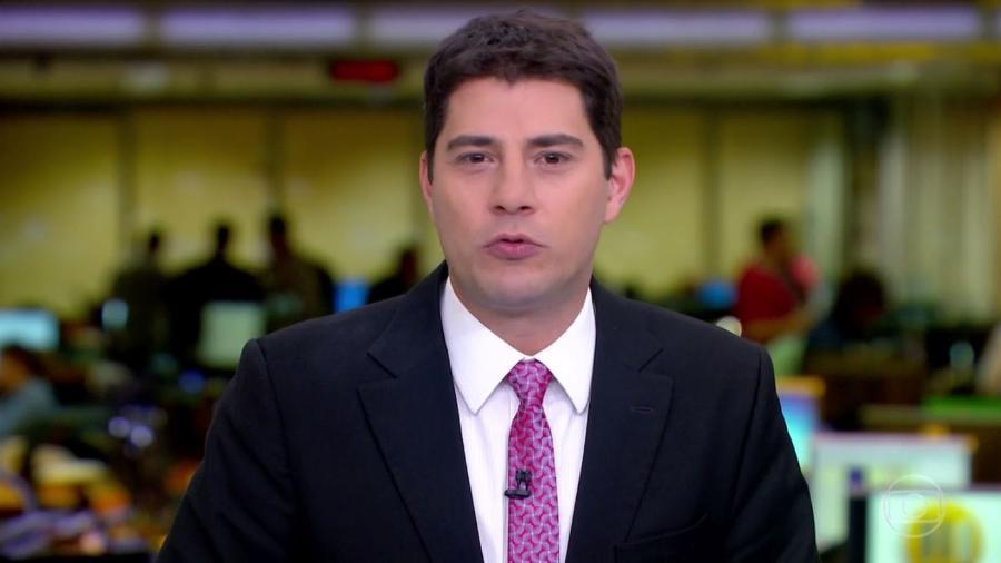 """Evaristo Costa apresentou seu último """"Jornal Hoje"""" na semana passada - Reprodução/TV Globo"""