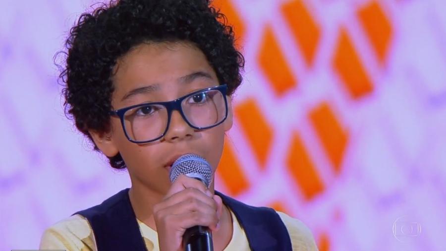 """Felipe Machado foi aprovado pelos jurados do """"The Voice Kids"""" deste domingo (21) - Reprodução The Voice Kids"""