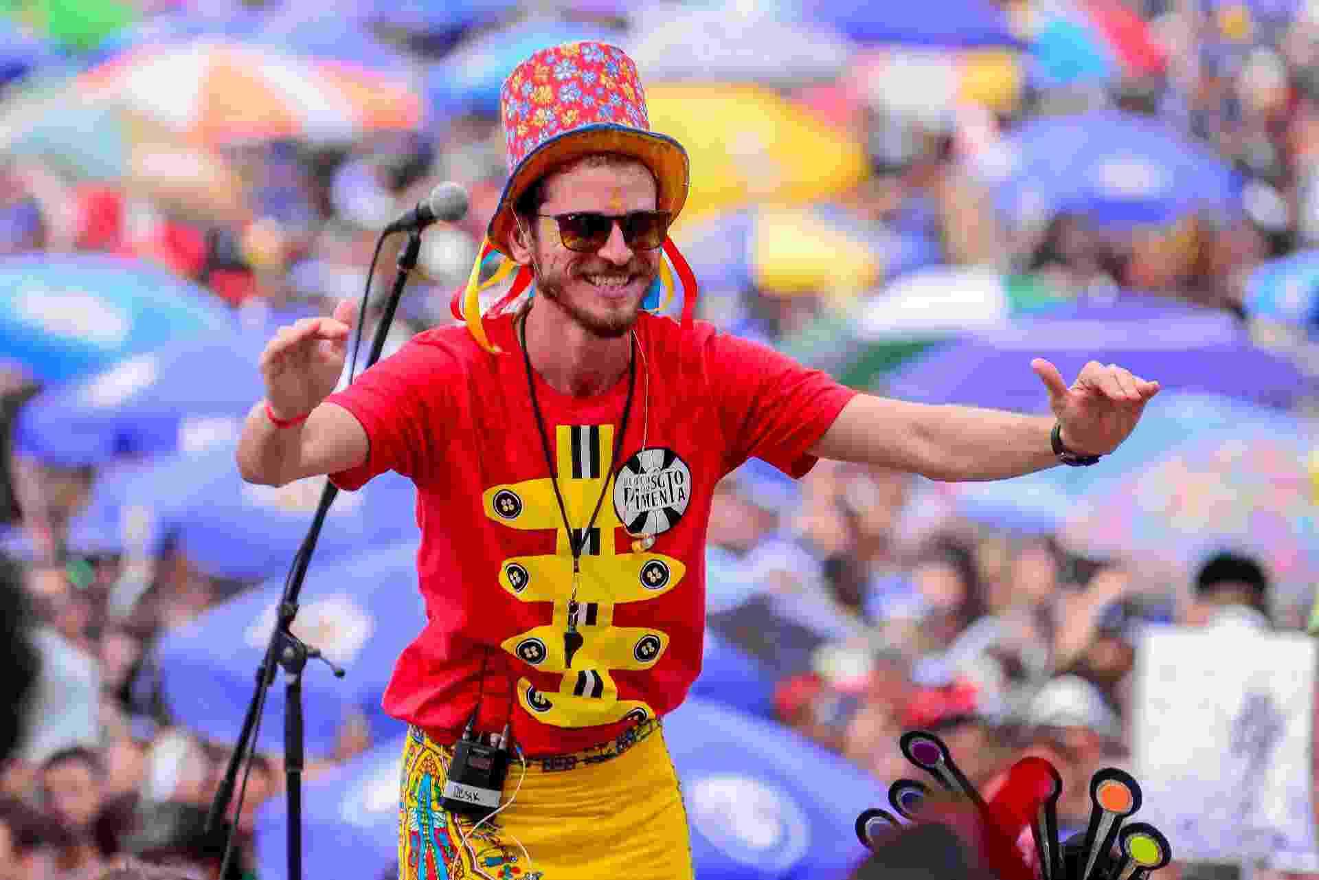 Bloco Sargento Pimenta se apresenta no Aterro do Flamengo, na zona sul do Rio de Janeiro, nesta segunda-feira, dia 12 de fevereiro e canta músicas dos Beatles em ritmo de Carnaval - Erbs Jr./UOL