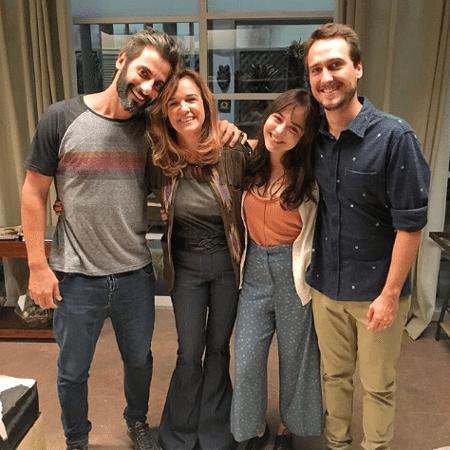Flavio Tolezani,  Sandra Corveloni, Bella Piero e Igor Angelkorte - Reprodução/Instagram/bella.piero