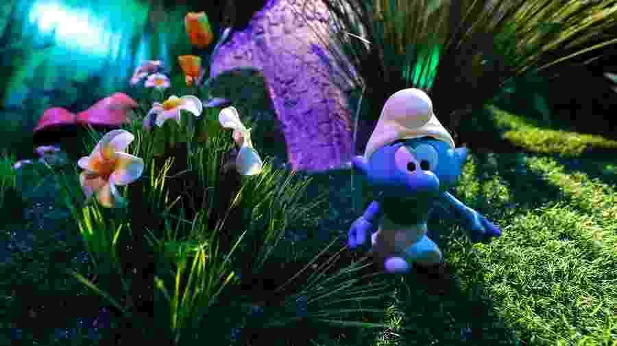 Vila dos Smurfs é recriada para exposição em Bruxelas - Yves Herman/Reuters