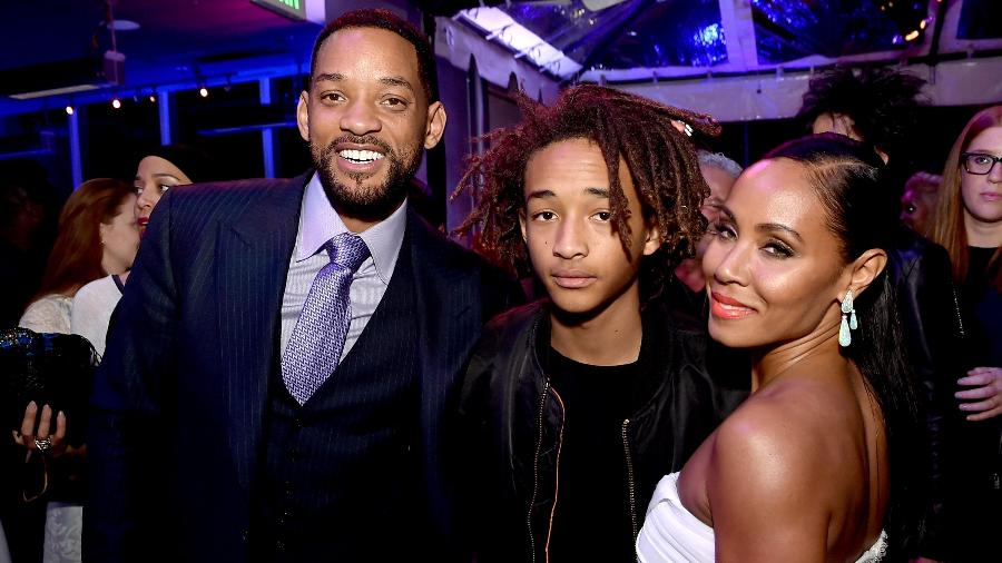 Will Smith, o filho, Jaden, e a mulher, Jada Pinkett Smith - Getty Images