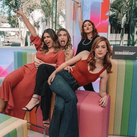 """Ex-BBBs Vivian, Fernanda, Ana Clara e a atriz Sophia Abrahão comandam o """"Vídeo Show"""" - Reprodução/Instagram"""