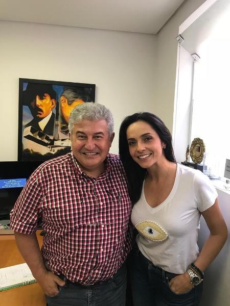 Em nova fase de sua carreira, Izabella Camargo passa a trabalhar com o ministro Marcos Pontes  - Reprodução