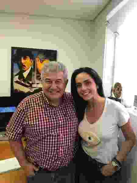 Izabella Camargo na primeira entrevista feita com Pontes, em maio deste ano - Reprodução