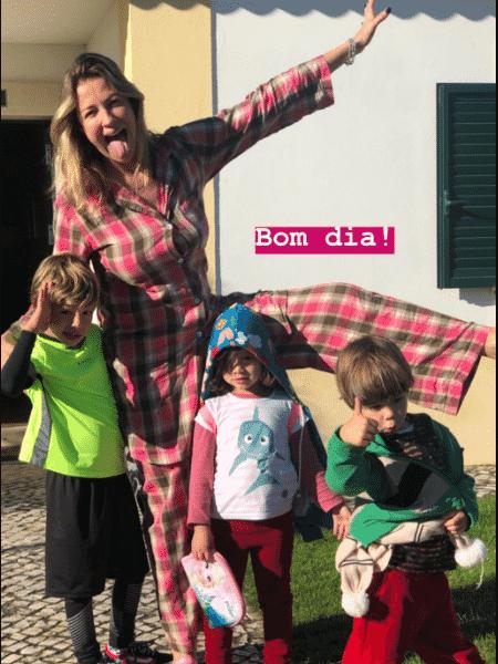 Luana Piovani com os filhos - Reprodução/Instagram