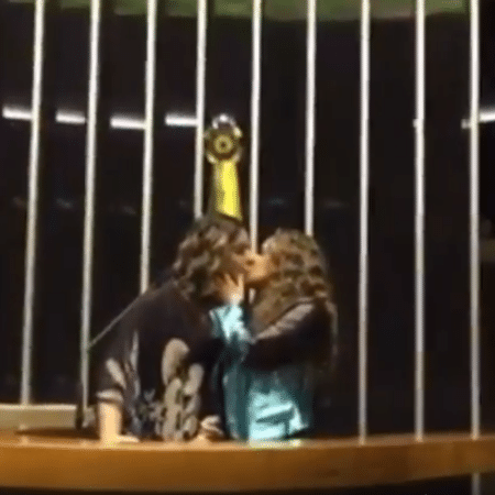 Malu Verçosa e Daniela Mercury se beijam na Câmara dos Deputados em Brasília - Reprodução/Instagram