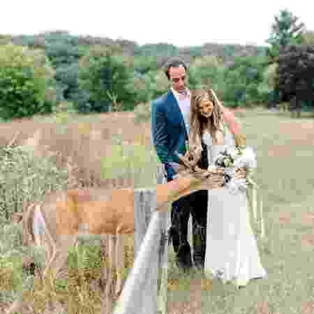 Veado invadiu ensaio de fotos de noivos - Laurenda Bennett