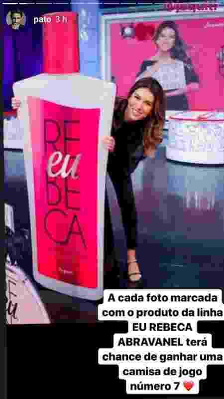 Alexandre Pato faz promoção para ajudar na venda dos produtos de beleza da linha da mulher, Rebeca Abravanel - Reprodução/Instagram - Reprodução/Instagram