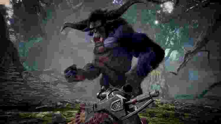 """Rajang, de """"Monster Hunter 2"""", chega a """"Iceborne"""" ainda em outubro - Divulgação"""