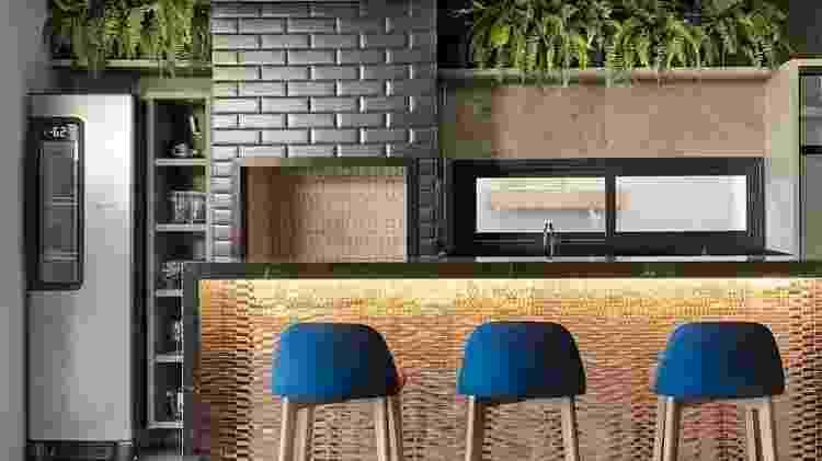 Churrasqueira no apartamento - visual - Reprodução/Pinterest - Reprodução/Pinterest