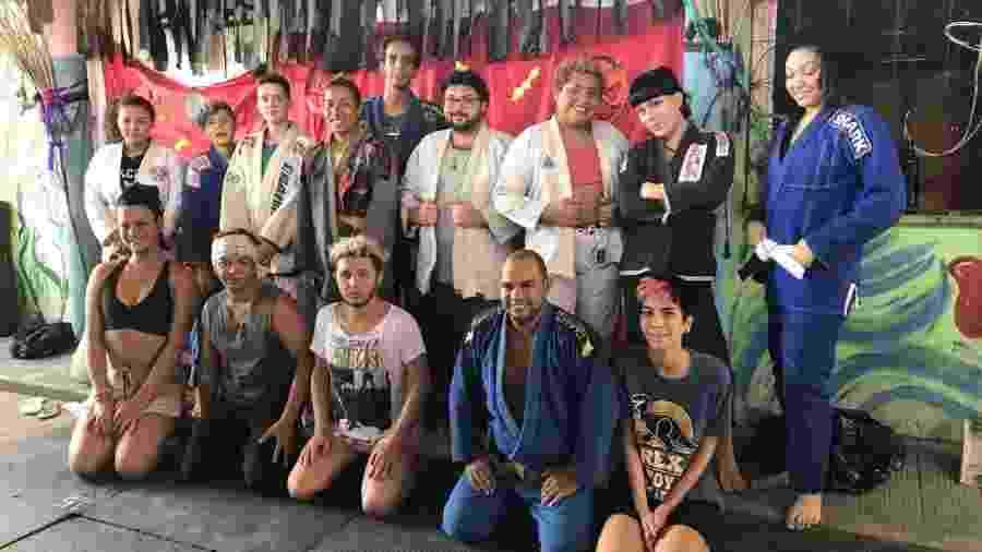 Turma de jiu-jitsu da ONG LGBT Casa Transformar, em Fortaleza - Arquivo pessoal