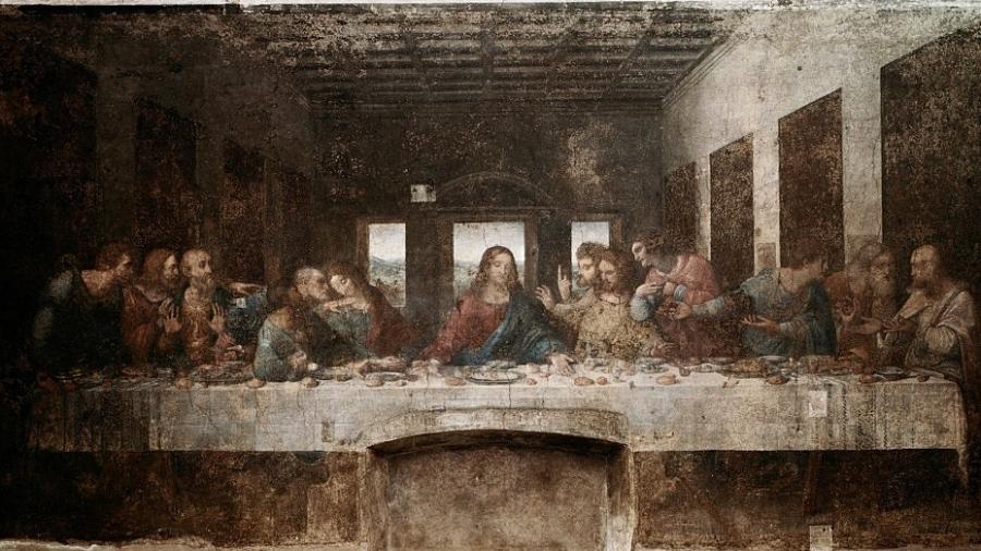 """""""A Última Ceia"""": já imaginada por Da Vinci (acima), a passagem bíblica agora serve de inspiração para um jantar do século 21 - Ted Spiegel/Corbis via Getty Images"""