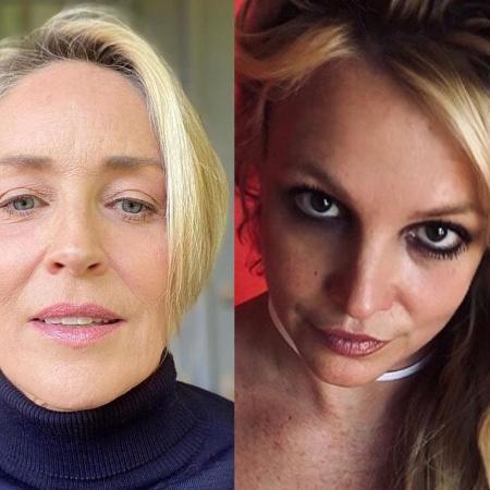 Sharon Stone e Britney Spears - Reprodução/Instagram