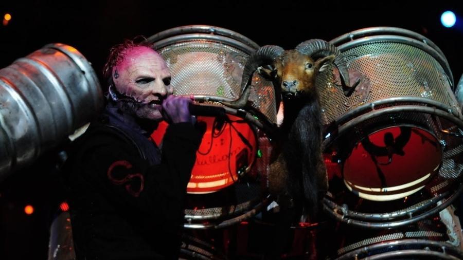 Corey Taylor em ação com o Slipknot - Junior Lago/UOL